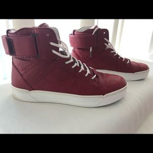 Men's Gucci Red Signature High-top Sneaker